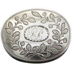 George III Scottish Provincial Silver Vinaigrette, circa 1808
