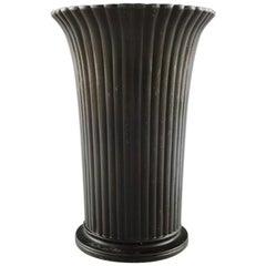 "Just Andersen Vase of Patinated ""Disco Metal"""