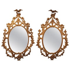 18th Century Chippendale Giltwood Mirrors