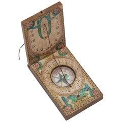 Diptych Portable Sundial