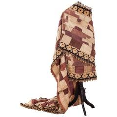 Handmade piece of Kuba cloth from the Congo, circa 1930