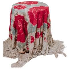 19th Century Silk Table Cloth
