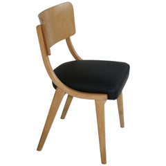 Black Natural Leather Chairs from 1980s like Jumper
