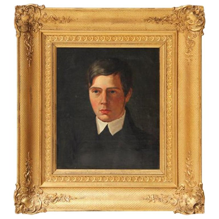 Portrait of a Young Man, Danish School, Late 19th Century
