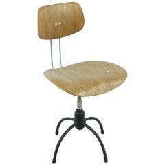 1960s Egon Eiermann Teak SE 40 Office Chair