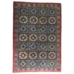Large Vintage Oriental Berber Fields Rug Carpet Made in Morocco, 1970s