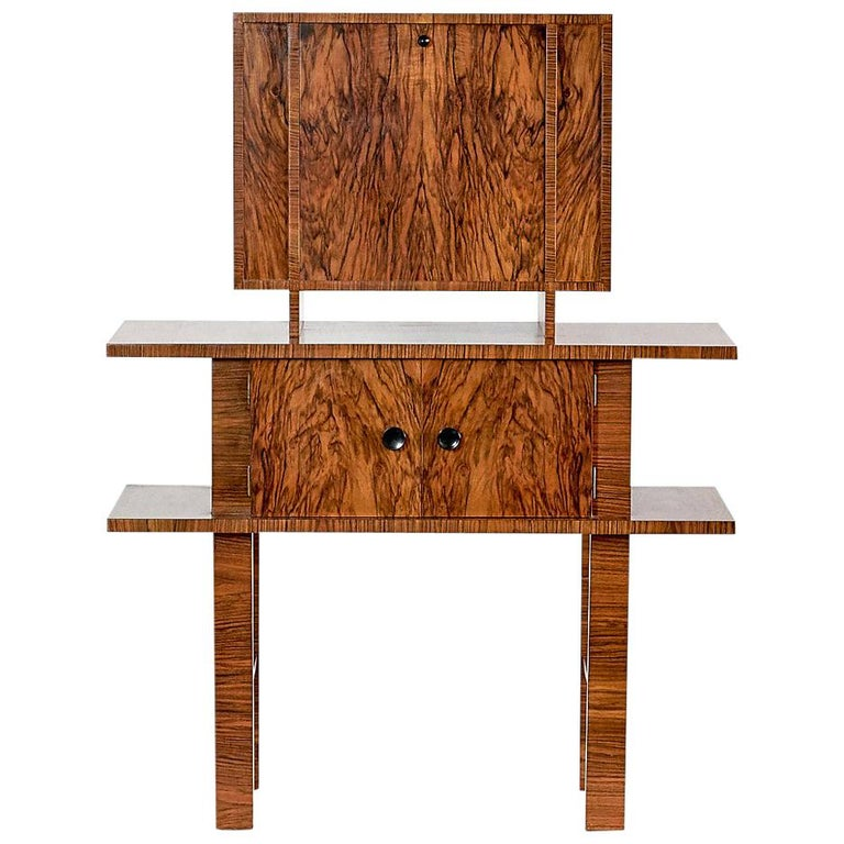 German Art Deco Bar Cabinet in Bolivian Rosewood and Birch