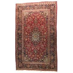 Vintage Persian Palace Carpet Keshan, Made in Persia 'Iran'