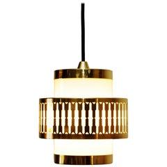 Danish Model P543 Brass Pendant by Bent Karlby for Lyfa, 1960s
