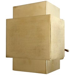 1960s Brass Cubic Sconce