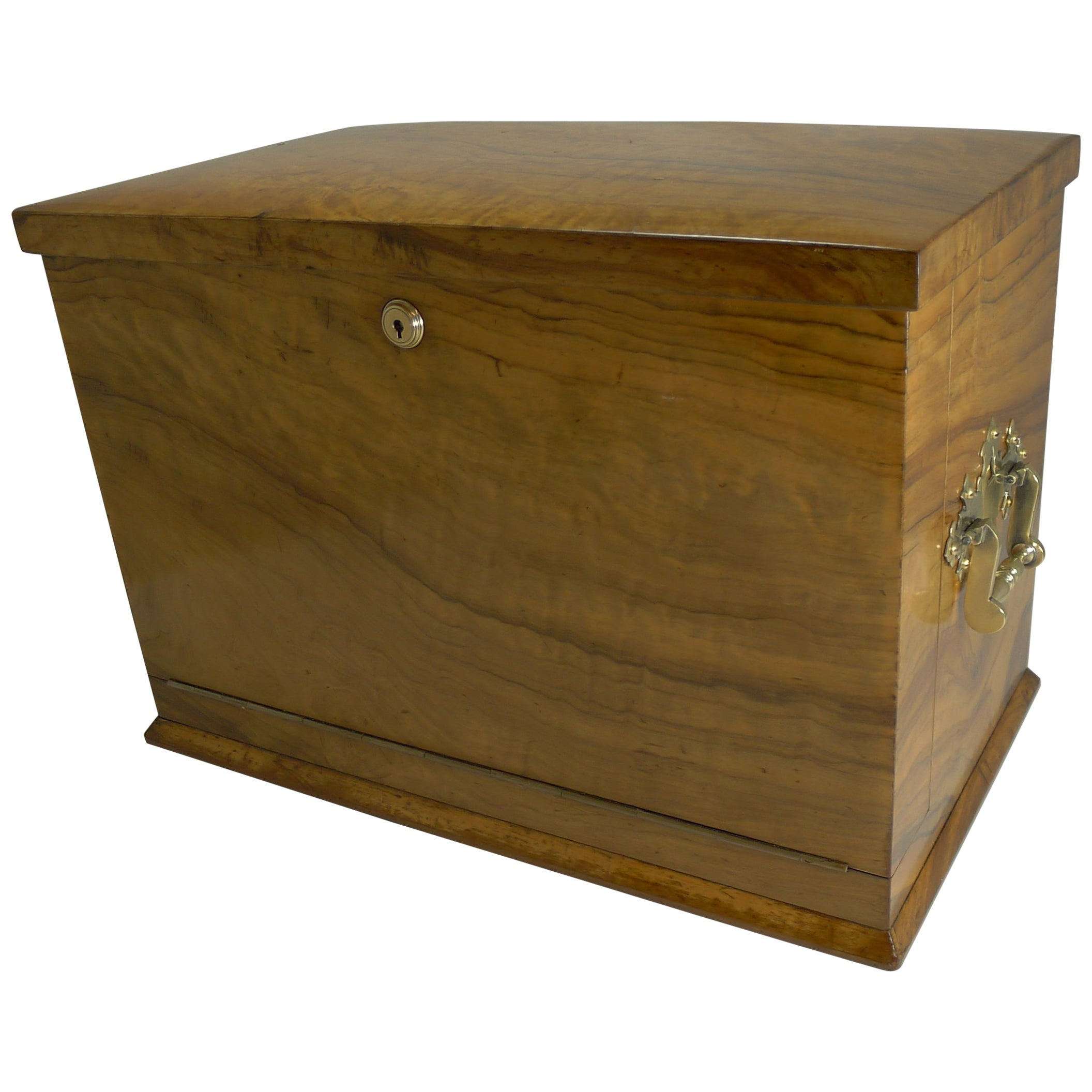 Grand Antique English Olivewood Writing Box / Cabinet, circa 1890