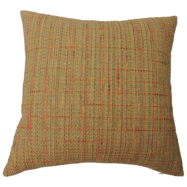 "Orange Tweet ""Willow"" Decorative Pillow"