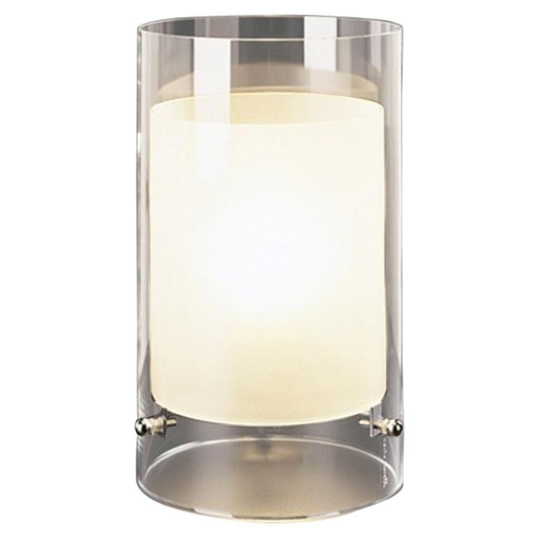 """Table Lamp in White Murano Crystal """"Cilla"""" by Carlo Moretti"""
