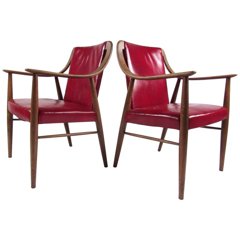 Pair of Vintage Leather Side Chairs after Peter Hvidt