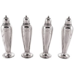 Set of Four Sterling Salt/Pepper Shakers
