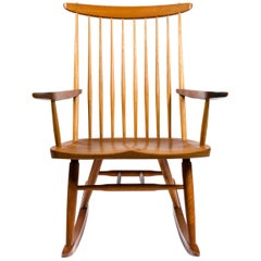 "George Nakashima Walnut and Poplar ""New Chair"" Rocker, USA, 1978"