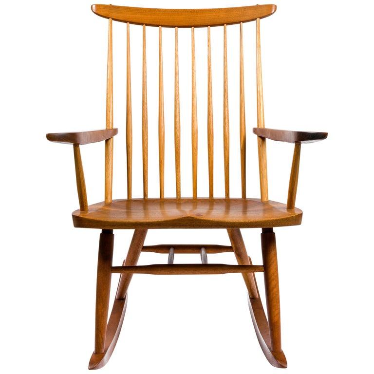 "George Nakashima Walnut and Poplar ""New Chair"" Rocker, USA, 1978"