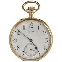 IWC International Watch & Co pocket watch in 18 karat gold. 1910s Swiss Made