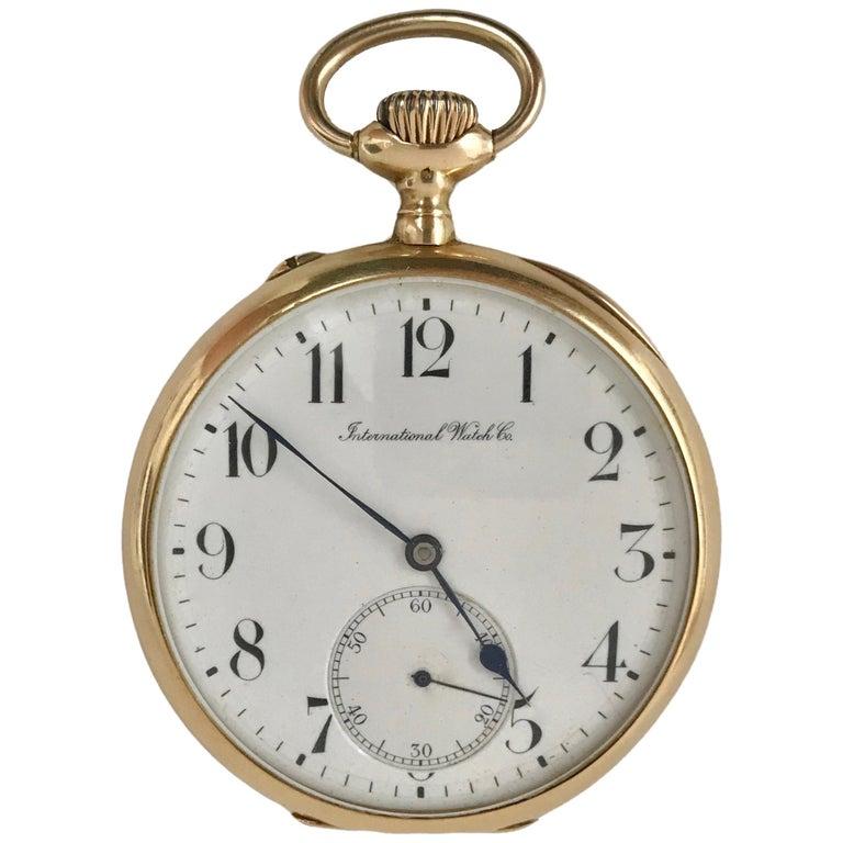 IWC International Watch & Co pocket watch in 18 karat gold. 1910s Swiss Made