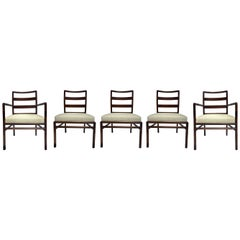 T.H. Robsjohn-Gibbings Set of Ladder Back Dining Chairs