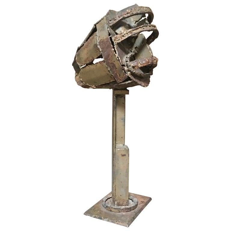 Torch Cut Brutal Sculpture For Sale