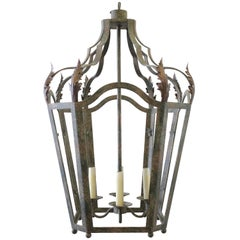 20th Century Iron Lantern Pendant