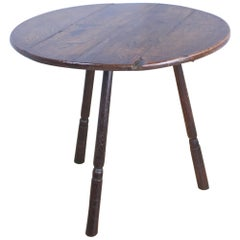 Antique Welsh Oak Cricket Table