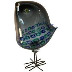 Alessandro Pianon for Vistosi Murano Pulcino Bird Sculpture