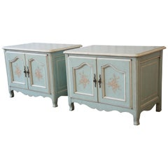John Widdicomb French Provincial Louis XV Style Nightstands, Pair