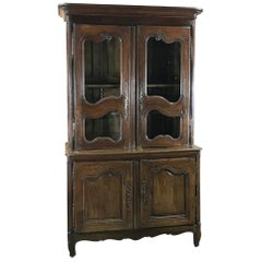 18th Century Country French Bookcase - Buffet a Deux Corps