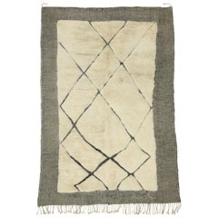 High and Low Texture Moroccan Rug with Asymmetrical Design, Berber Moroccan Rug