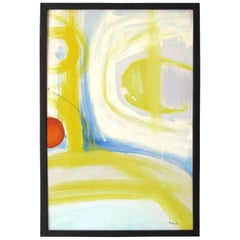 Mid-Century Modern Abstract Painting by Lee Porzio, 1960s