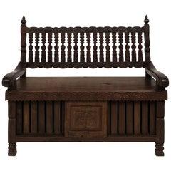 Anglo-Indian Hall Bench