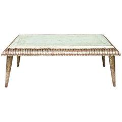 Italian Silver Leaf Low Table