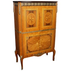 French Empire Style Inlaid Cocktail Cabinet
