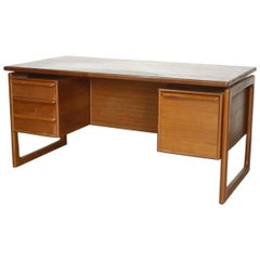 GV Gasvig for GV Møbler Teak Desk, Denmark, 1960s