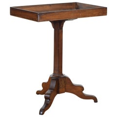 French Walnut Louis Philippe Period Tray Top Side Table, circa 1840