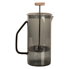 850 mL Glass French Press, Gray