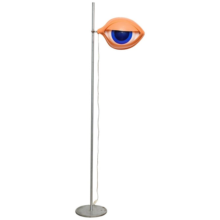 "Rare ""L'Oeile"" Floor Lamp by Nicola L For Sale"