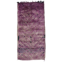 Vintage Purple Moroccan Rug with Tribal Style, Moroccan Berber Rug