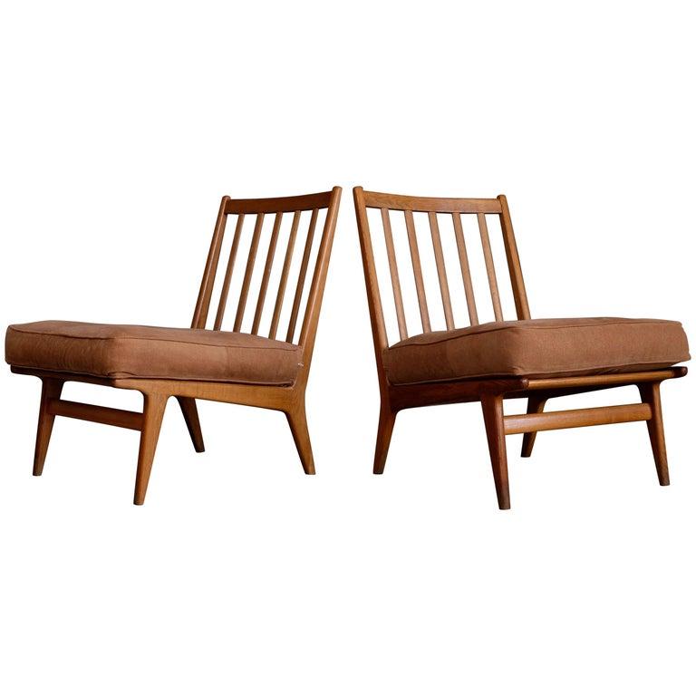 Rare Easy Chairs by Karl-Erik Ekselius, Sweden, 1960s