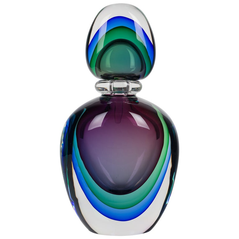 Flavio Poli Murano Glass Sommerso Bottle