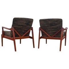 Pair of Tove and Edvard Kindt-Larsen Lounge Chairs