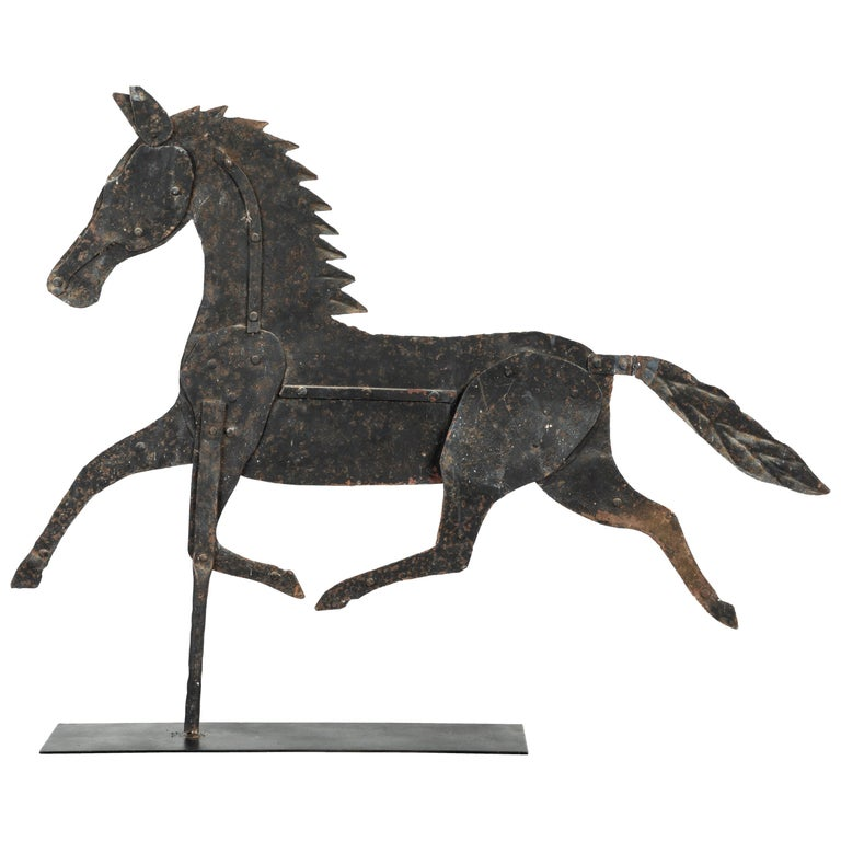 19th Century American Folk Art Iron Horse Weathervane
