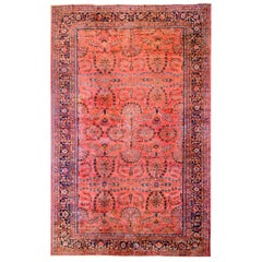 Majestic Early 20th Century Sarouk Mohajeran Rug