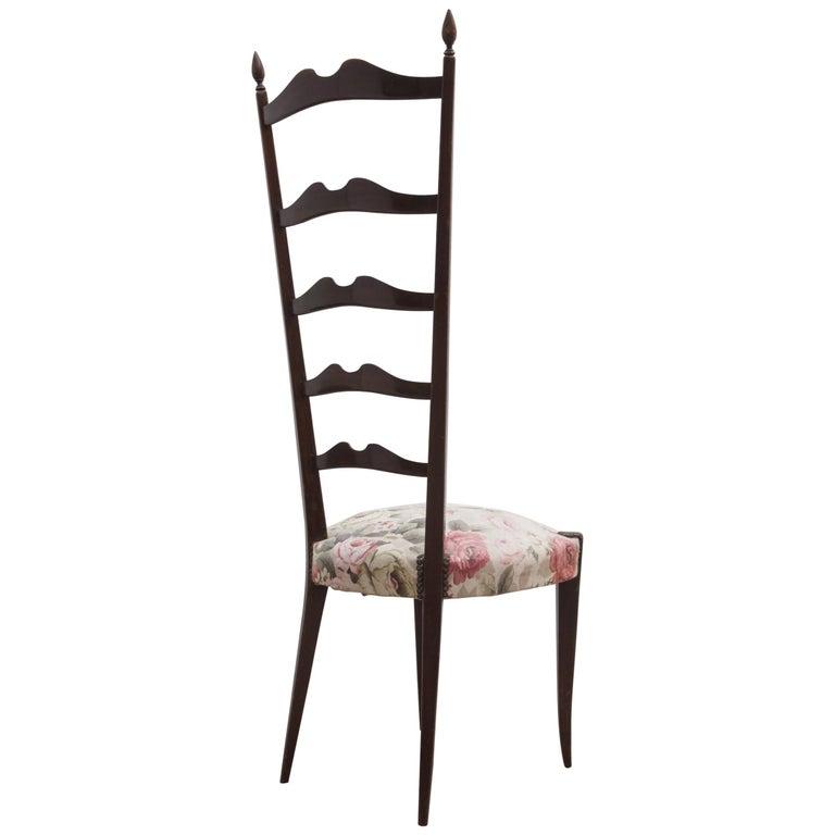 Set of High Back Paolo Buffa Chiavari Chairs, Italy, 1950s