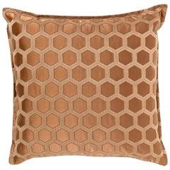 Brabbu Honeycomb Copper Pillow in Cotton-Linen Blend