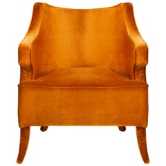 Brabbu Java Armchair in Orange Cotton Velvet