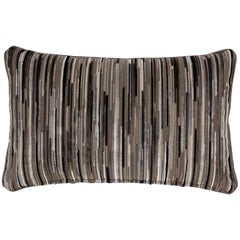 Brabbu Tapestry Pillow in Black and Gray Twill