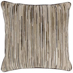 Brabbu Tapestry Pillow in Brown and Beige Twill